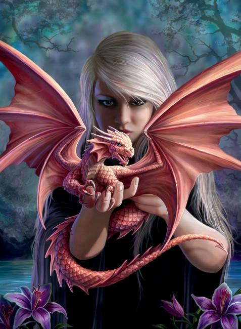 Puzzle Ravensburger La Chica con el Dragón de 500 Piezas