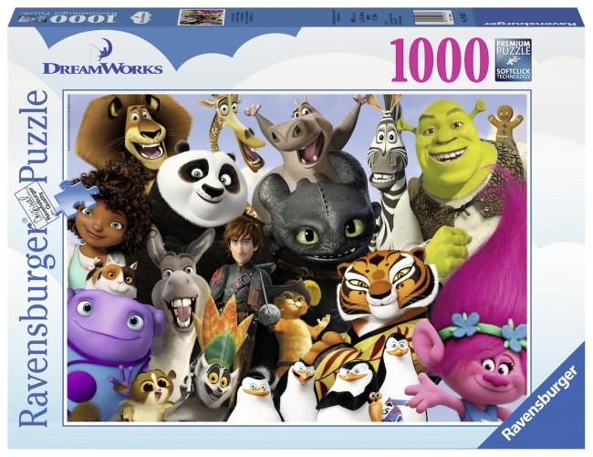 Puzzle Ravensburger La Familia Dreamworks de 1000 Piezas