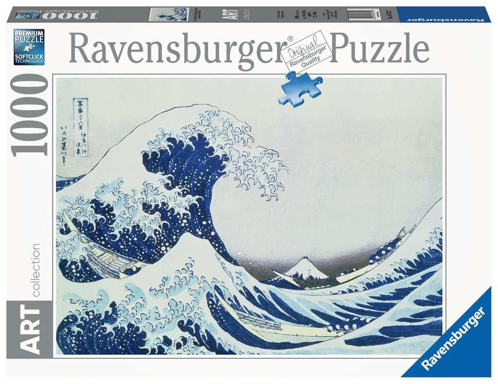 Puzzle Ravensburger La Gran Ola de Kanagawa de 1000 Piezas