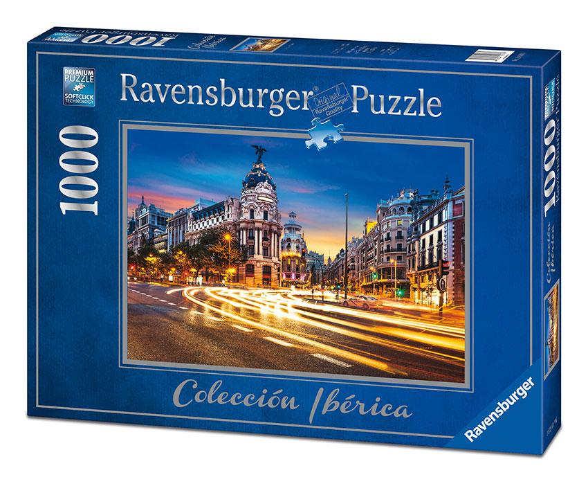 Puzzle Ravensburger La Gran Vía, Madrid 1000 Piezas