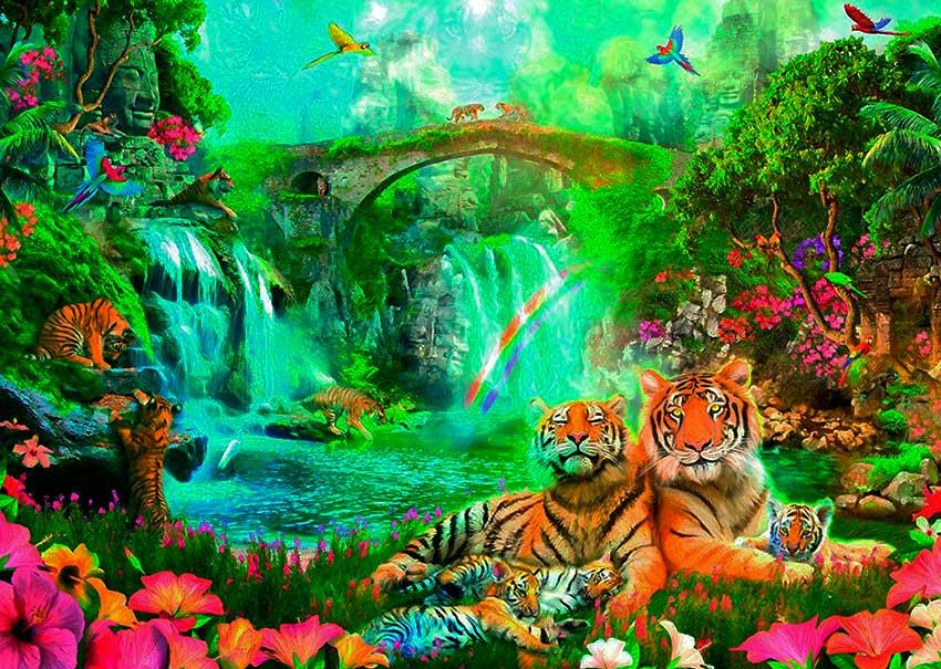 Puzzle Ravensburger La Gruta de los Tigres de 1000 Piezas
