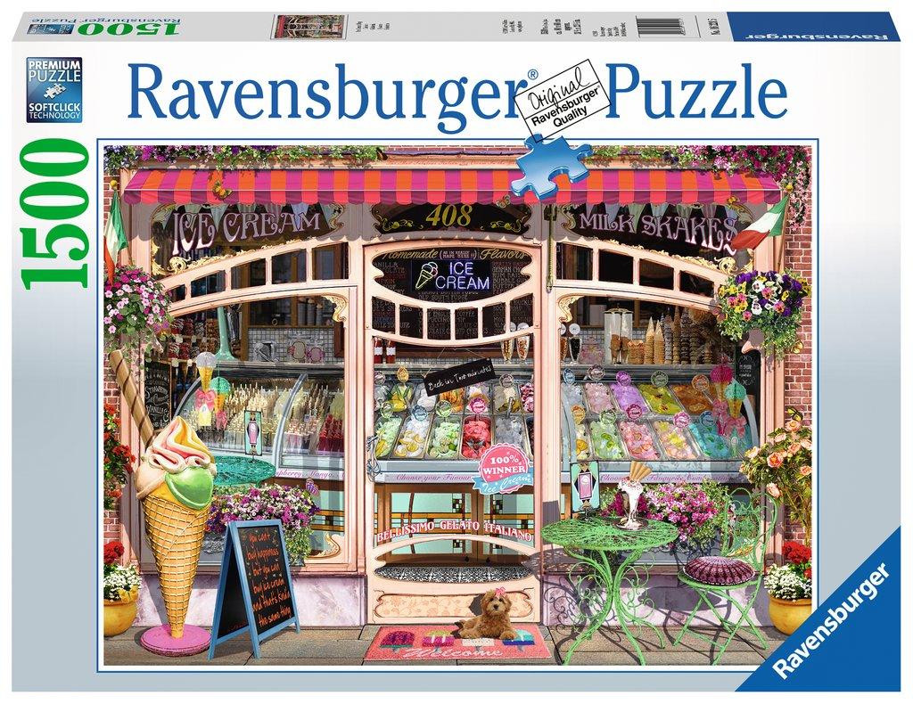 Puzzle Ravensburger La Heladería de 1500 Piezas