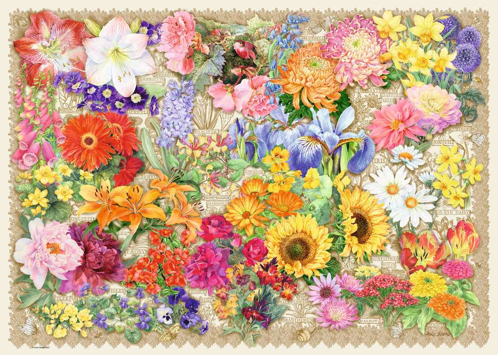 Puzzle Ravensburger La Hermosa Floración de 1000 Piezas