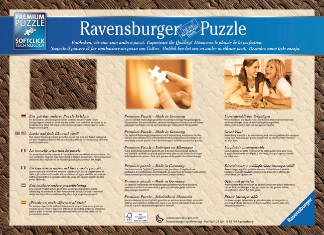 Puzzle Ravensburger La Pausa del Café Efecto Madera 1200 Piezas