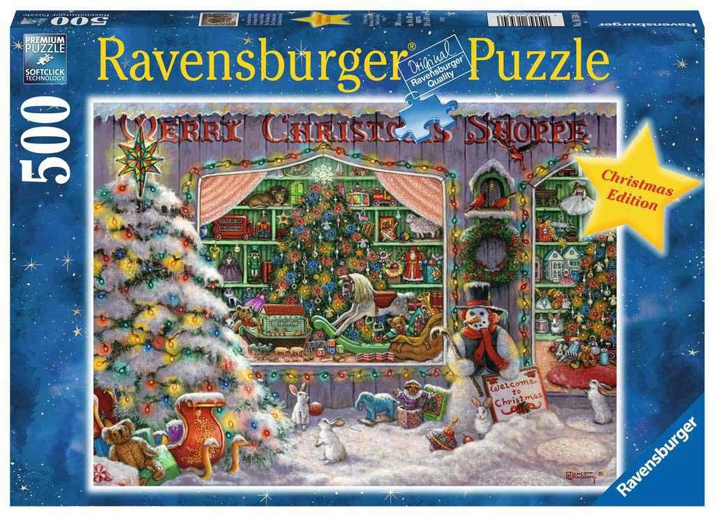 Puzzle Ravensburger La Tienda de Navidad de 500 Piezas