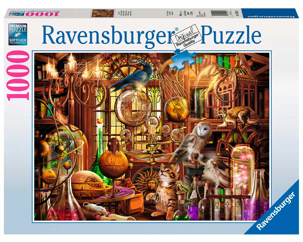 Puzzle Ravensburger Laboratorio de Merlín de 1000 Piezas