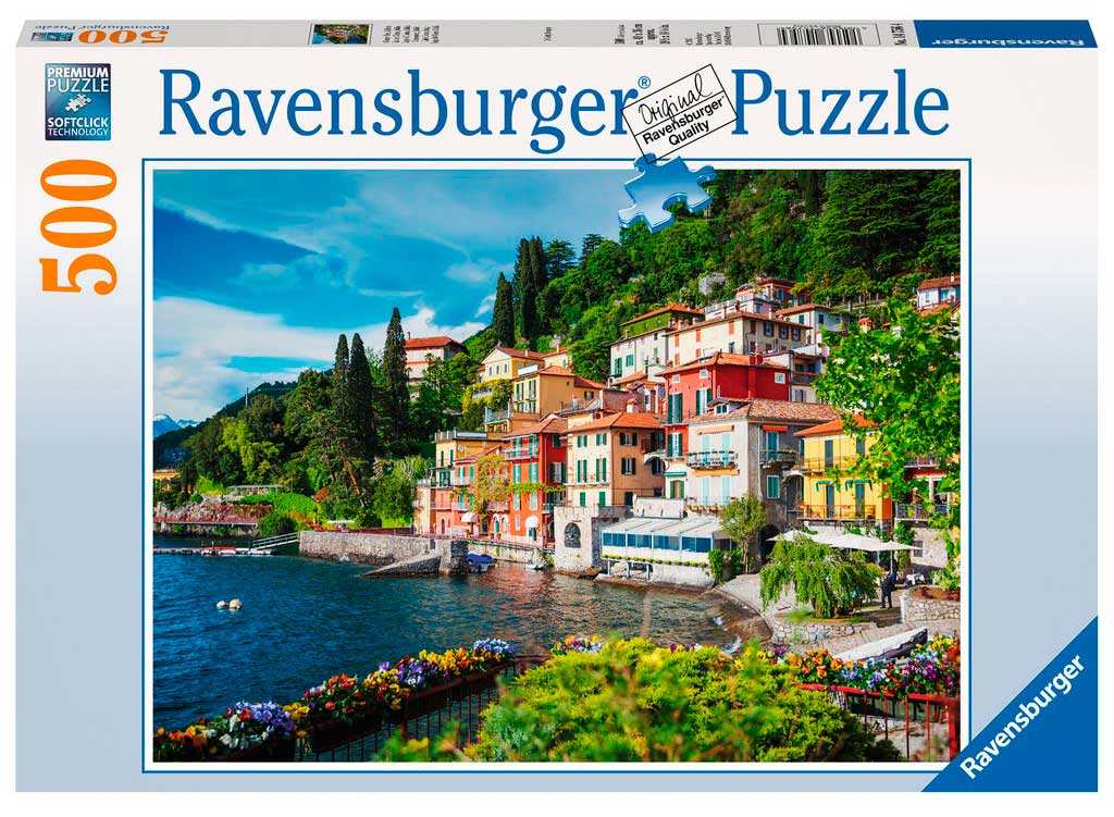 Puzzle Ravensburger Lago de Como, Italia 500 Piezas
