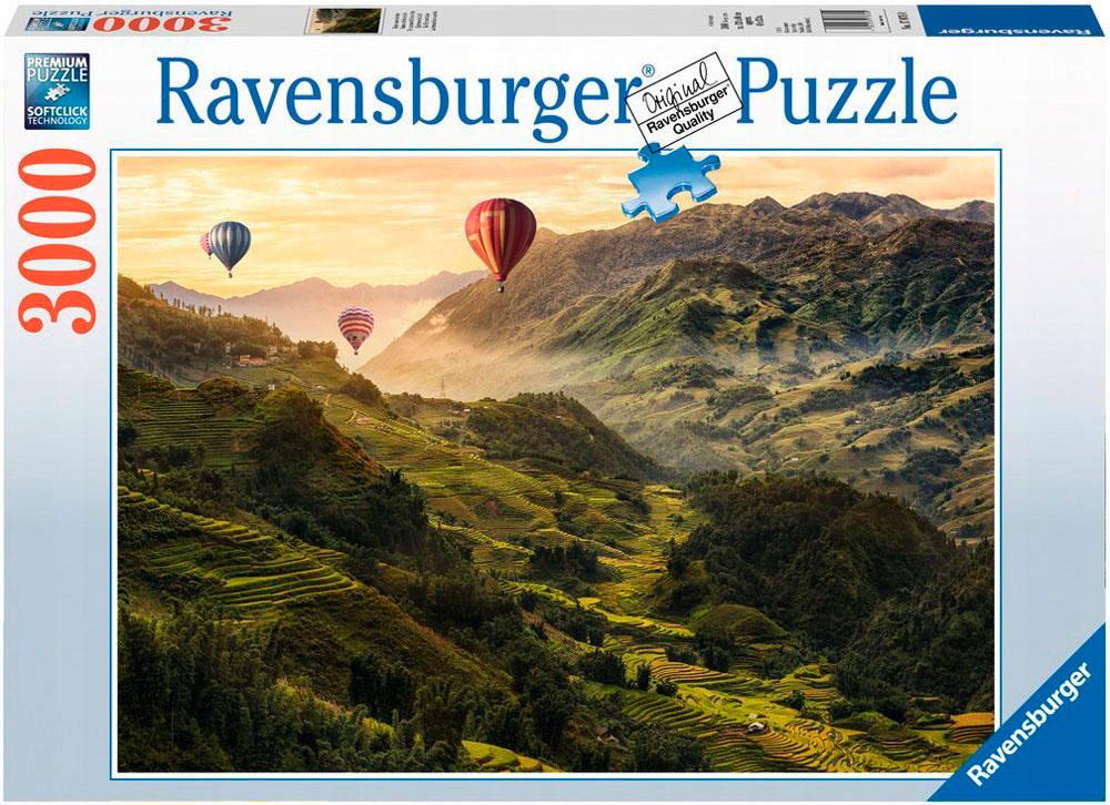 Puzzle Ravensburger Las Terrazas de Arroz en Asia de 3000 Piezas