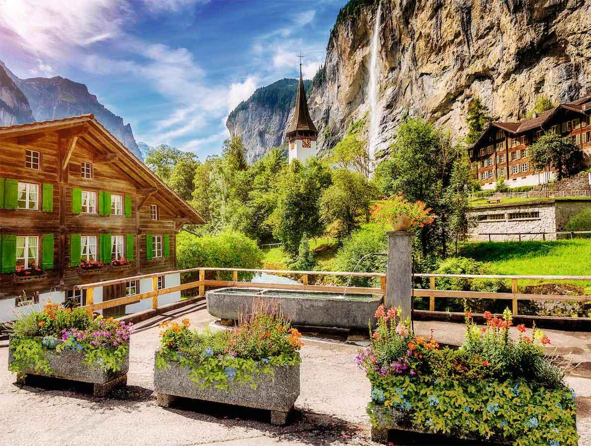Puzzle Ravensburger Lauterbrunnen, Suiza de 500 Pzs XXL