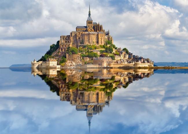 Puzzle Ravensburger Le Mont Saint Michel de 1000 Piezas