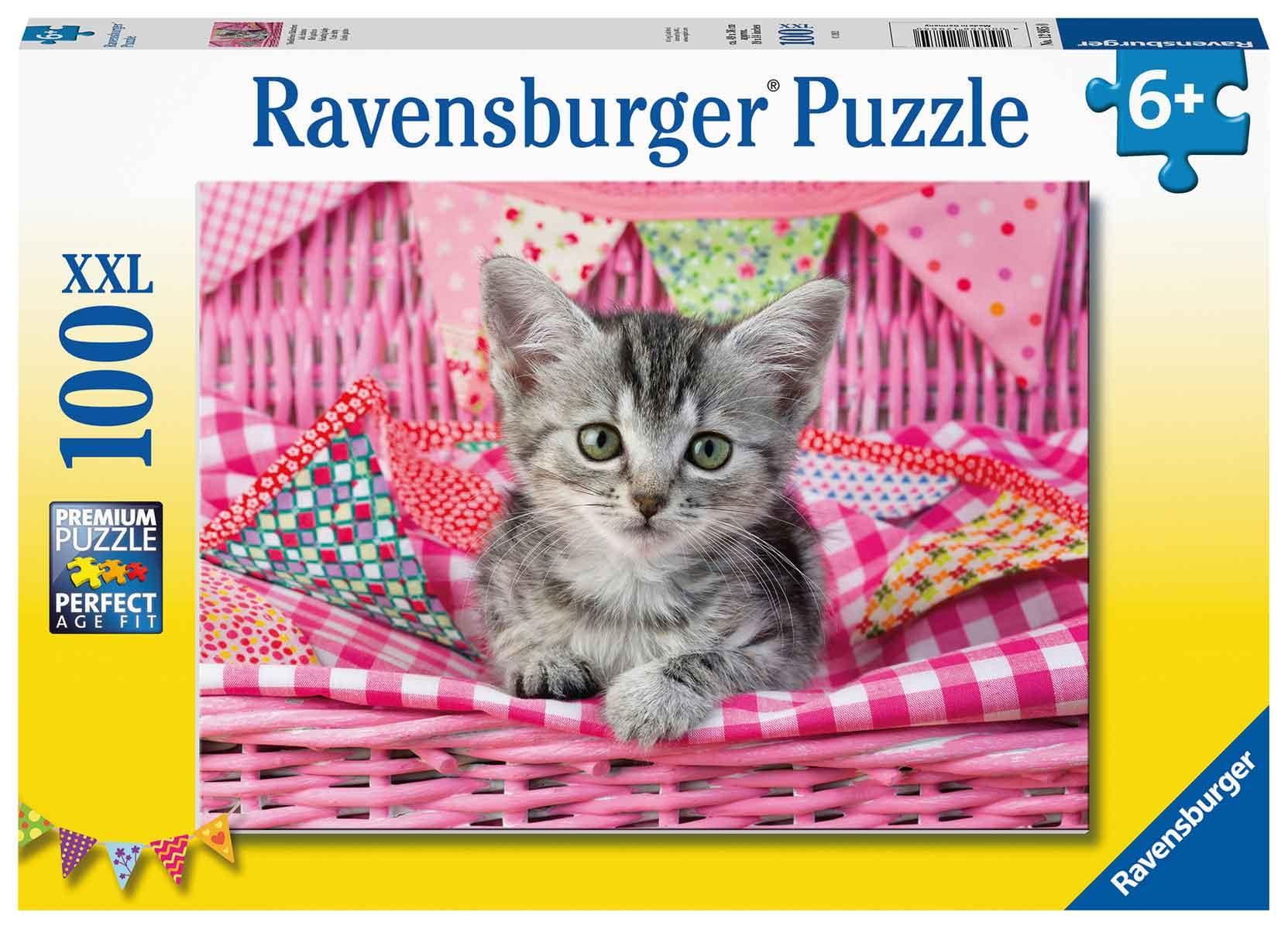 Puzzle Ravensburger Lindo Gatito XXL de 100 Piezas