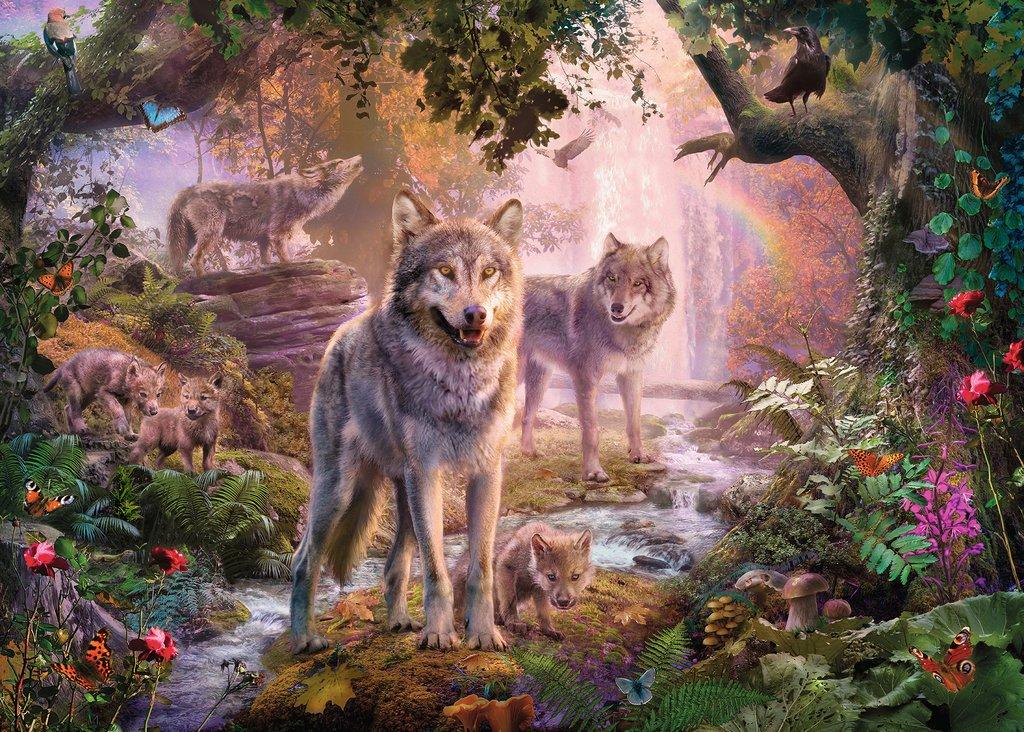 Puzzle Ravensburger Lobos de Verano de 1000 Piezas