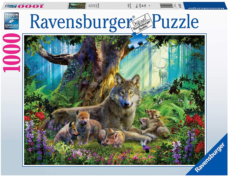 Puzzle Ravensburger Lobos en el Bosque 1000 Piezas