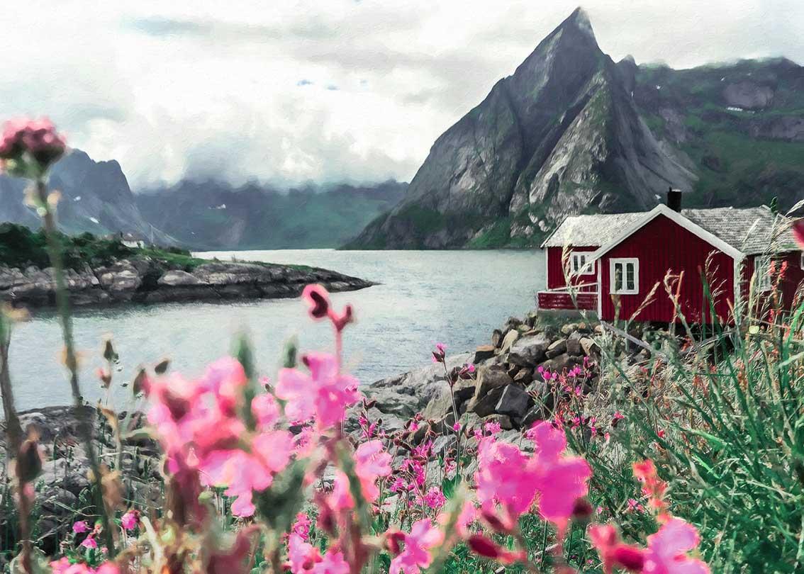 Puzzle Ravensburger Lofoten, Noruega de 1000 Piezas