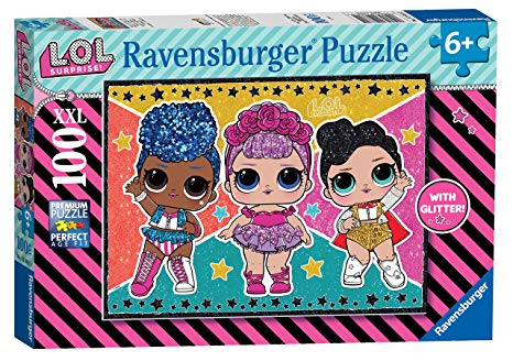 Puzzle Ravensburger LOL Estrellas y Brillantina XXL de 100 Pzs
