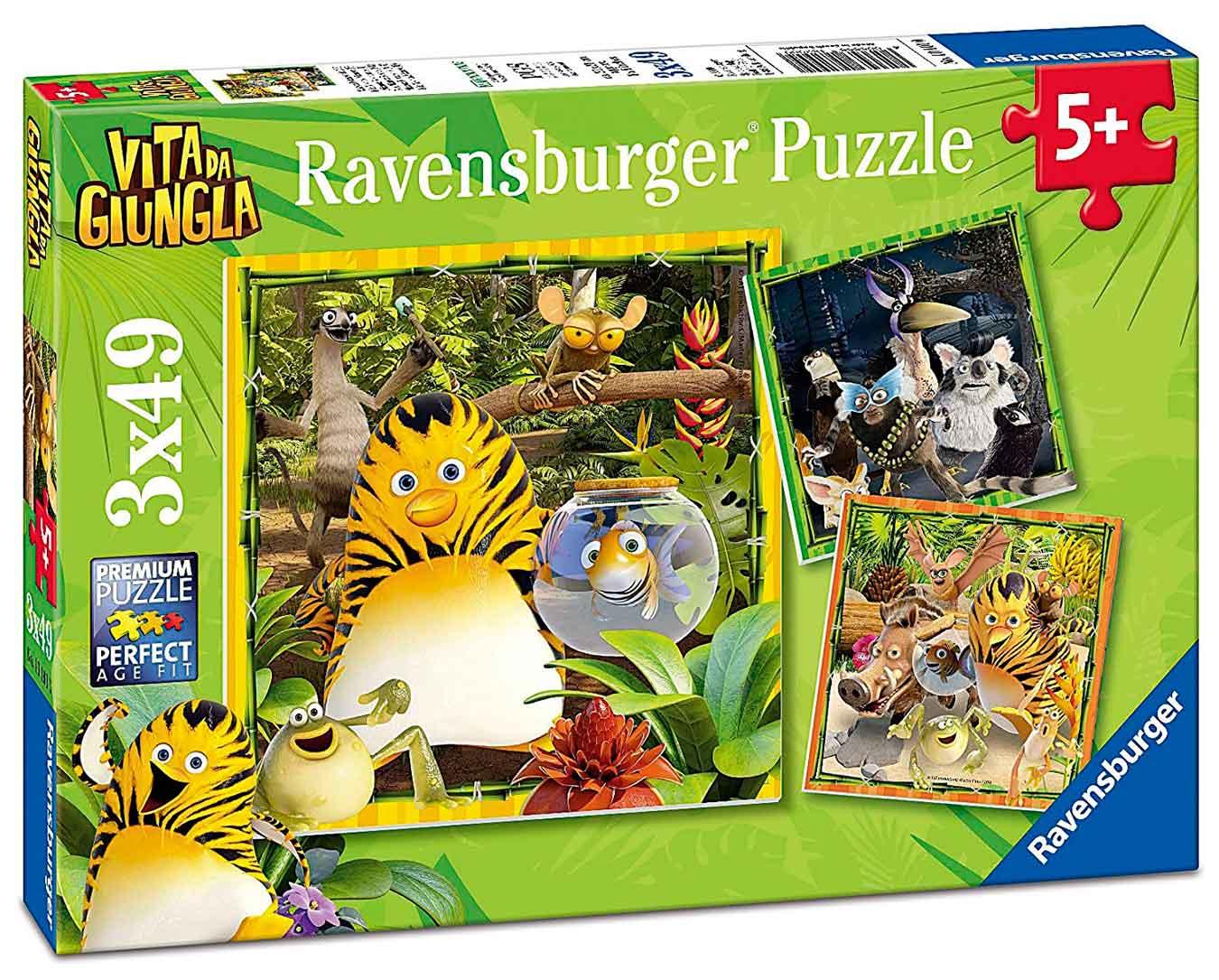 Puzzle Ravensburger Los Amigos de la Jungla 3x49 Piezas