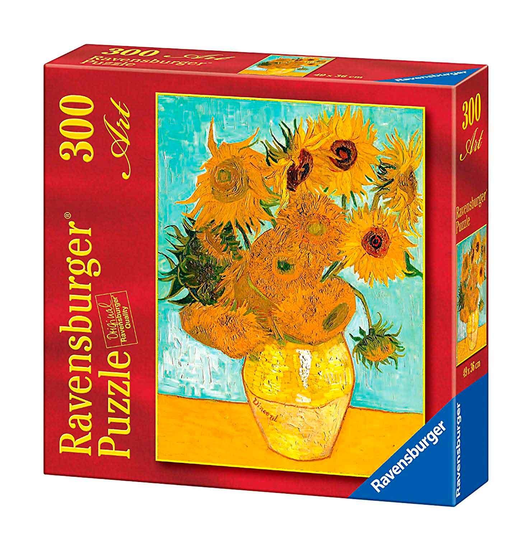 Puzzle Ravensburger Los Girasoles, de Van Gogh de 300 Piezas