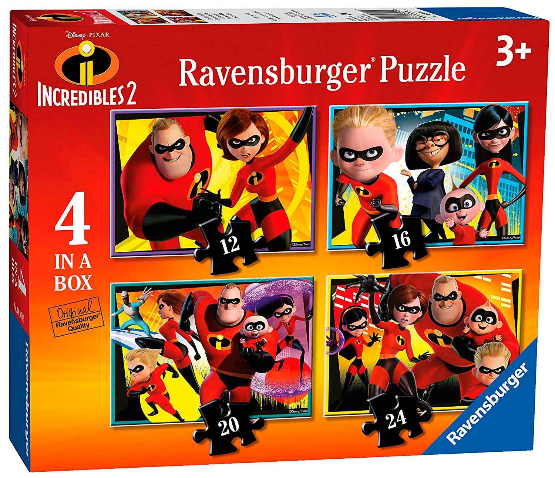 Puzzle Ravensburger Los Increíbles 2 Progresivo, de 12+16+20+24