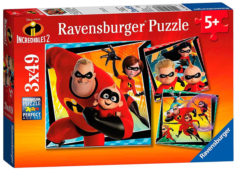 Puzzle Ravensburger Los Increíbles 2, de 3x49 Piezas