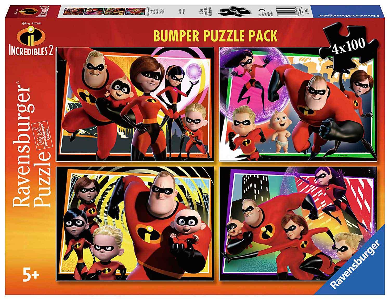 Puzzle Ravensburger Los Increíbles 2 de 4 x 100 Piezas