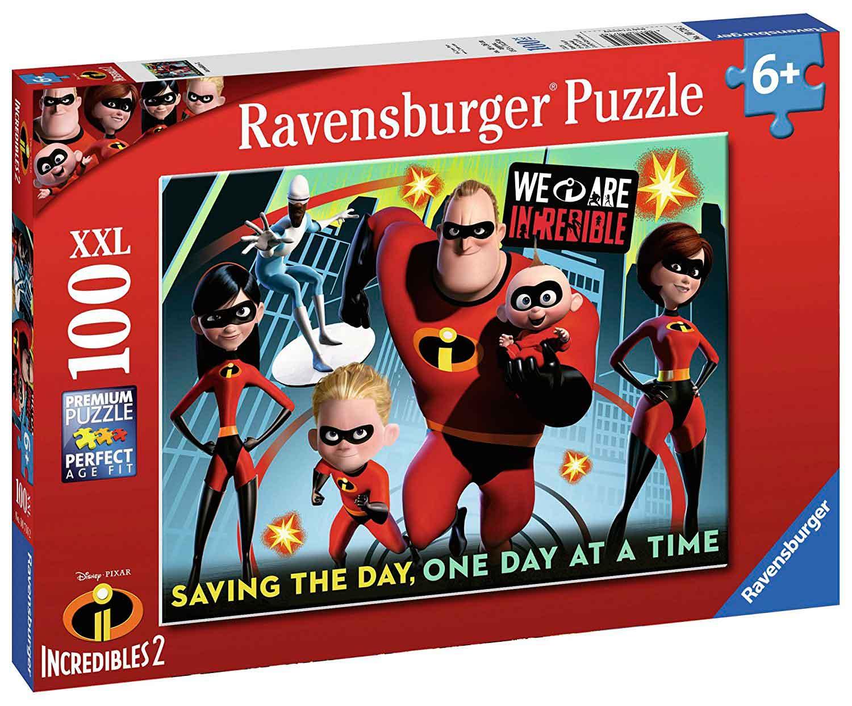 Puzzle Ravensburger Los Increíbles 2, XXL de 100 Piezas