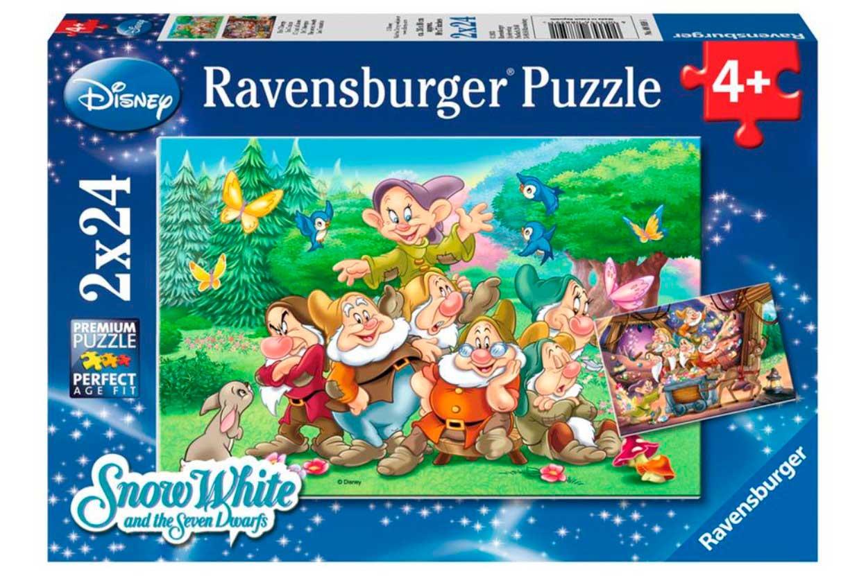 Puzzle Ravensburger Los Siete Enanitos de 2x24 Piezas