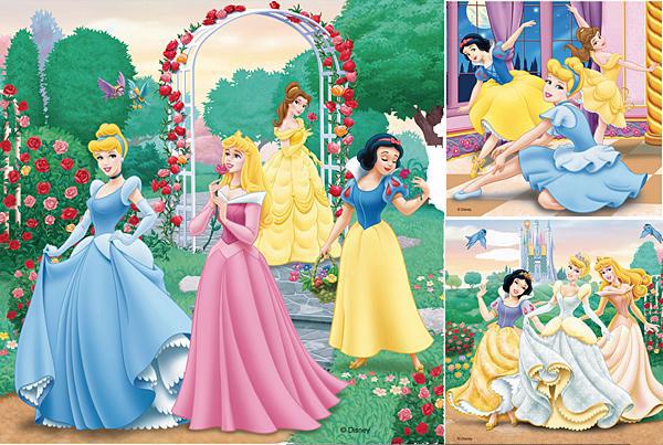Puzzle Ravensburger Los Sueños de la Princesa 3 x 49 Piezas