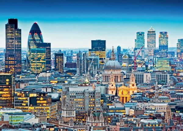 Puzzle Ravensburger Los Tejados de Londres de 1000 Piezas