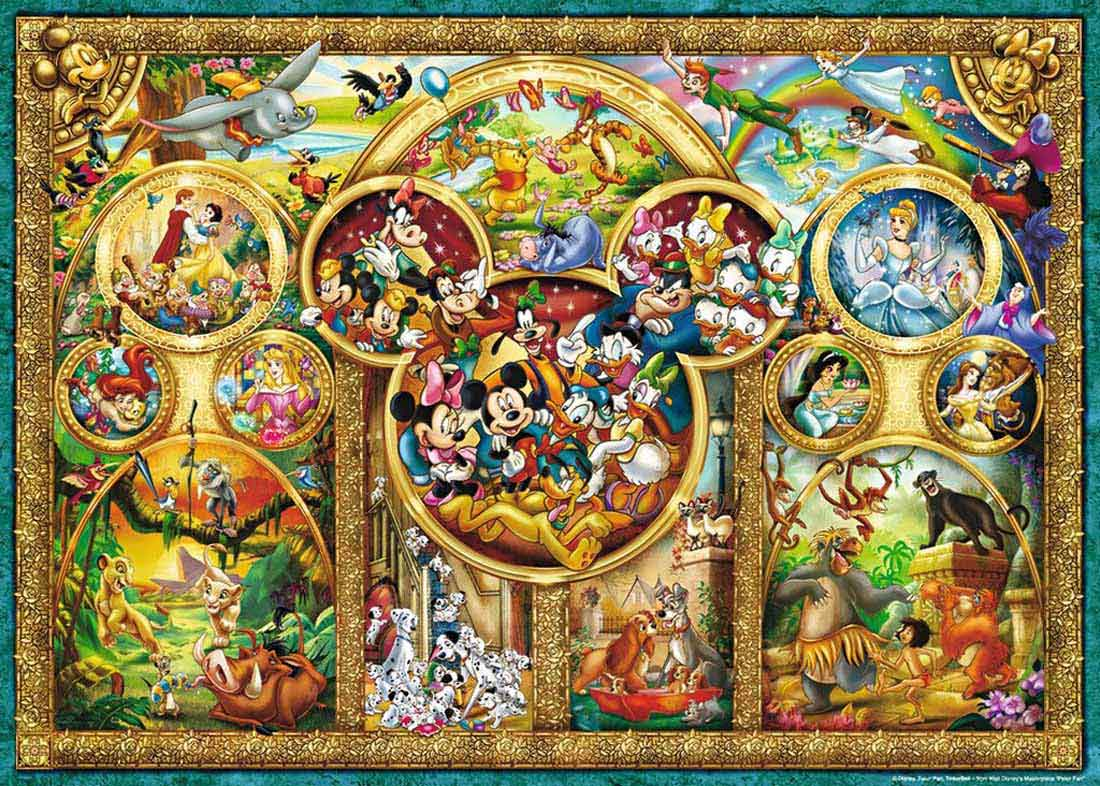 Puzzle Ravensburger Los Temas Más Bonitos de Disney 1000 Pzs