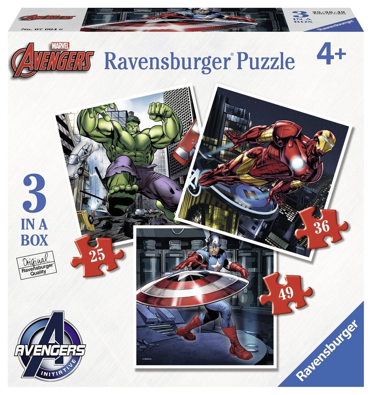 Puzzle Ravensburger Los Vengadores Progresivo 25+36+49
