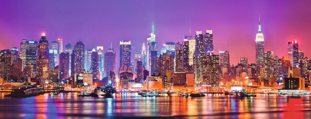 Puzzle Ravensburger Luces de Manhattan de 1000 Piezas