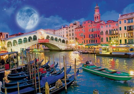 Puzzle Ravensburger Luna de Venecia Neón de 1200 Piezas