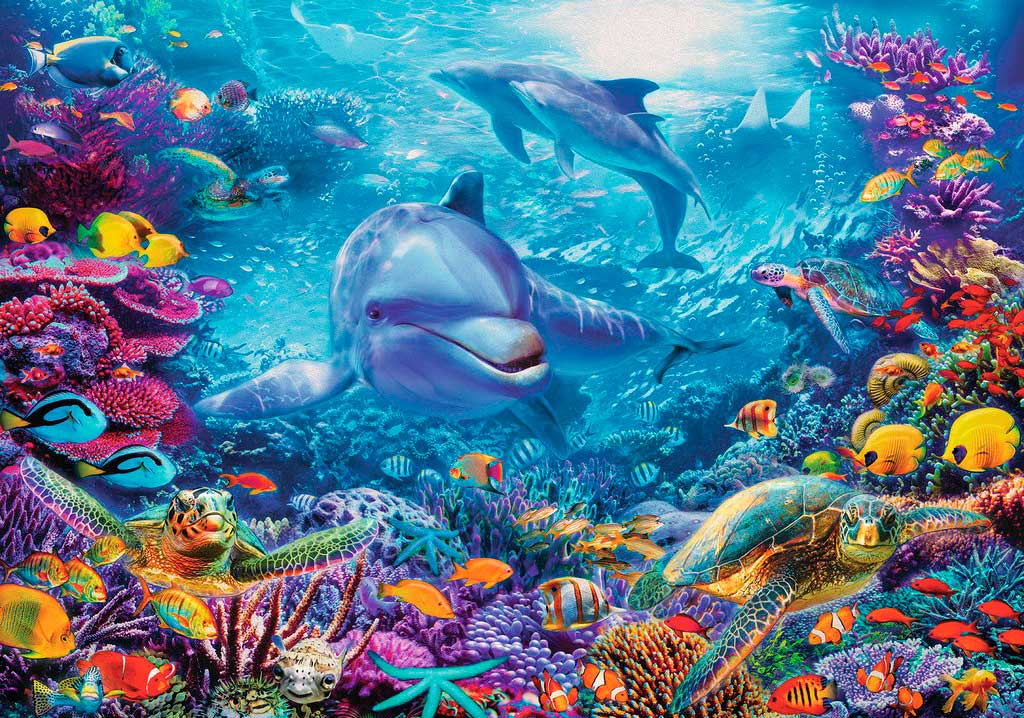 Puzzle Ravensburger Magnífico Mundo Submarino de 1000 Pzs
