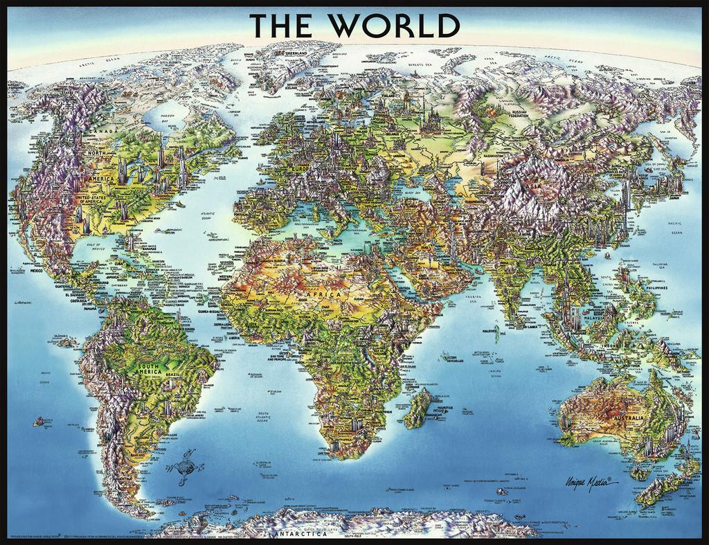Puzzle Ravensburger Mapa del Mundo Ilustrado de 2000 Piezas