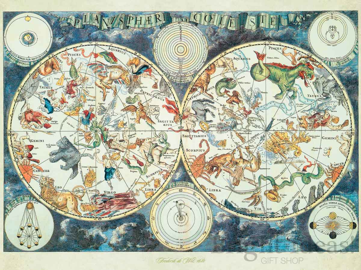 Puzzle Ravensburger Mapa Mundial de Bestias de 1500 Piezas