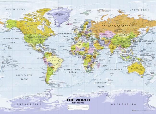 Puzzle Ravensburger Mapa Político de 500 Piezas