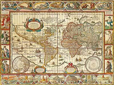 Puzzle Ravensburger Mapamundi 1650 de 2000 Piezas