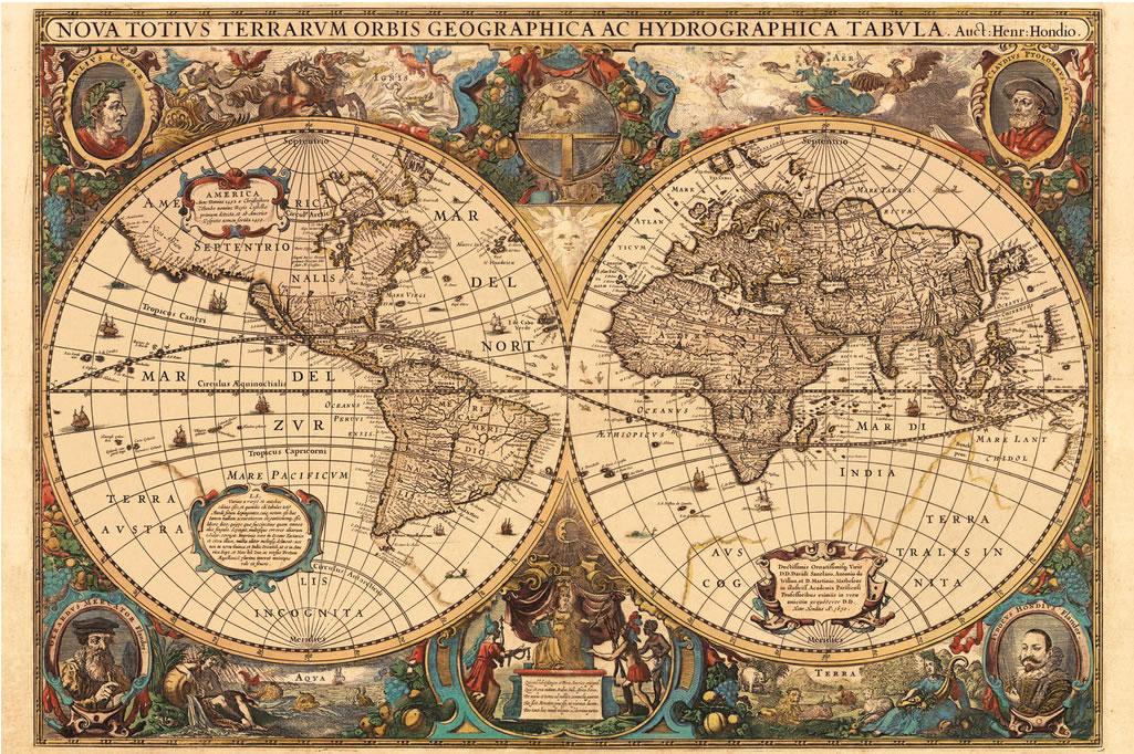 Puzzle Ravensburger Mapamundi Antiguo de 5000 Piezas