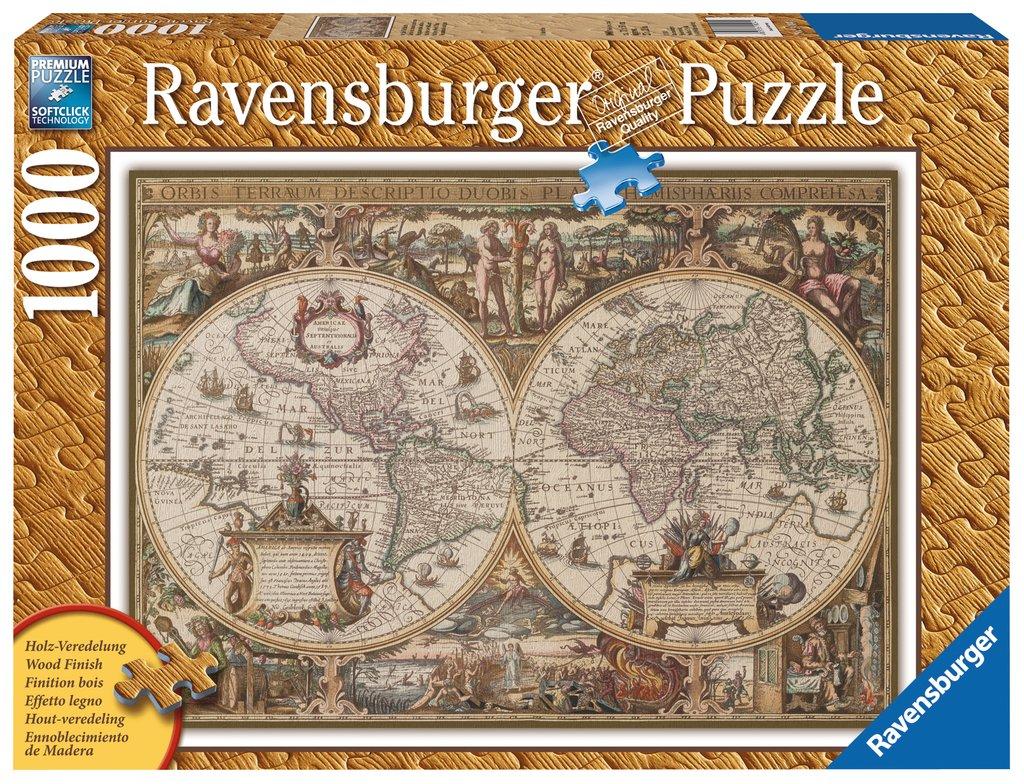 Puzzle Ravensburger Mapamundo Antiguo de 1000 Piezas
