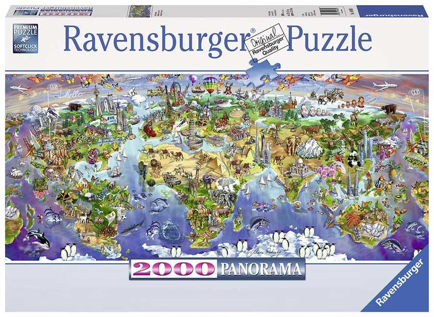 Puzzle Ravensburger Maravillas del Mundo de 2000 Piezas
