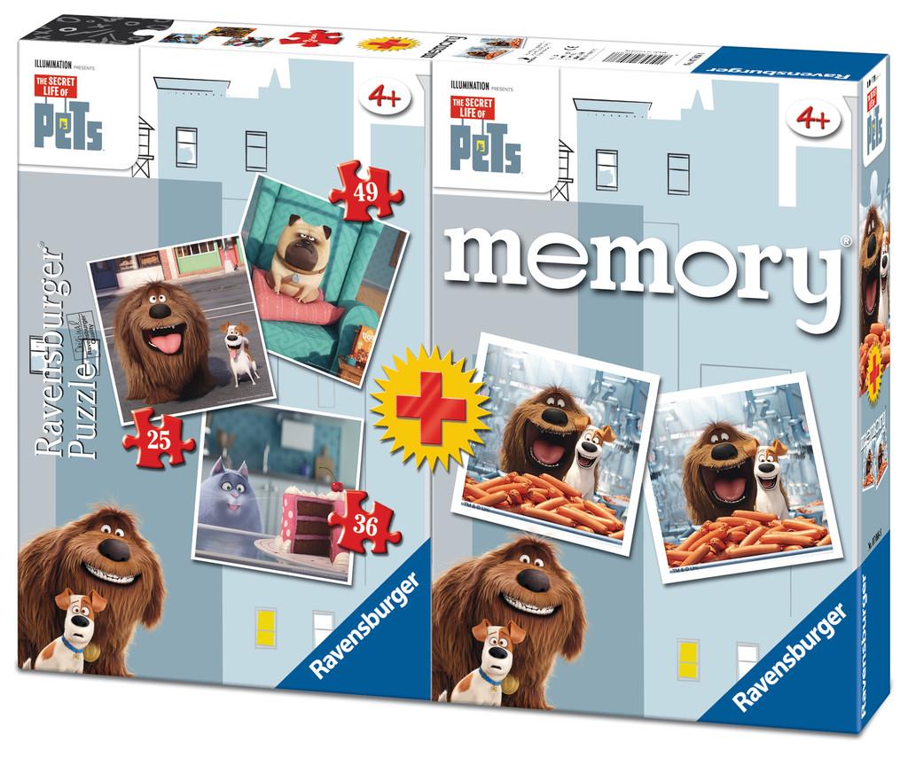 Puzzle Ravensburger Mascotas, El Secreto de la Vida 25+36+49 + M