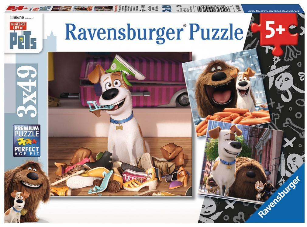Puzzle Ravensburger Mascotas, Pets 3 x 49 Piezas