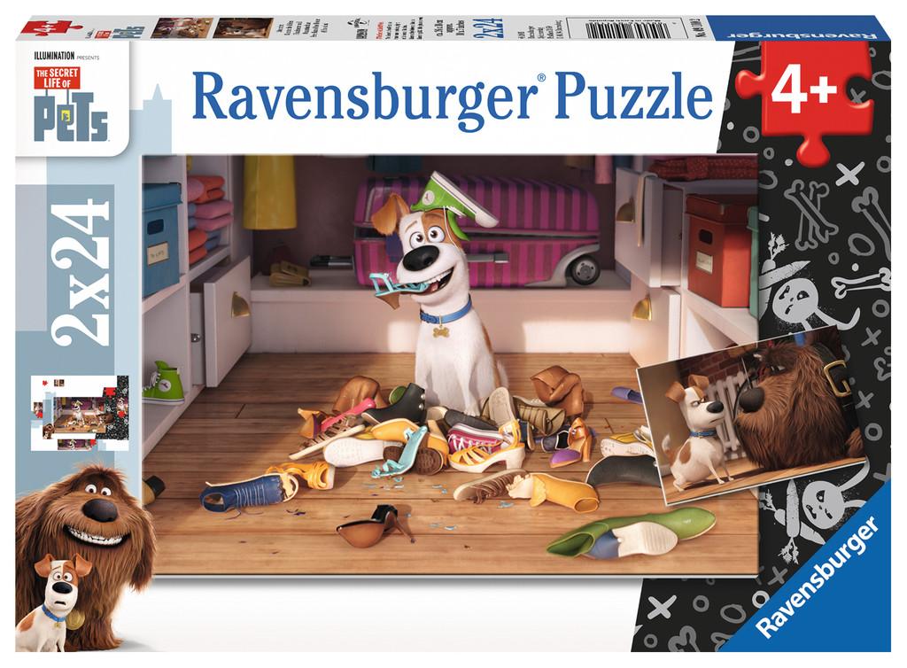 Puzzle Ravensburger Mascotas, Por Fin Solos 2 x 24 Piezas