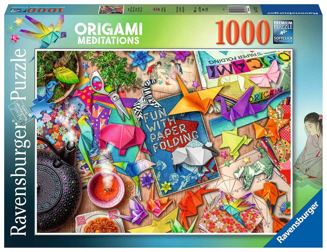 Puzzle Ravensburger Meditación y Origami de 1000 Piezas