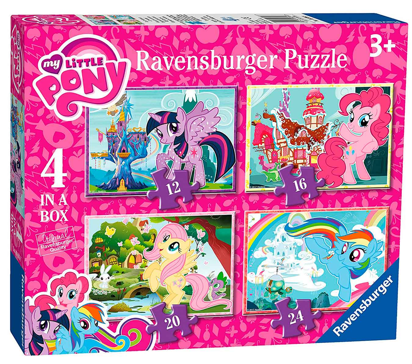 Puzzle Ravensburger My Little Pony Progresivo, 12+16+20+24 Pzs