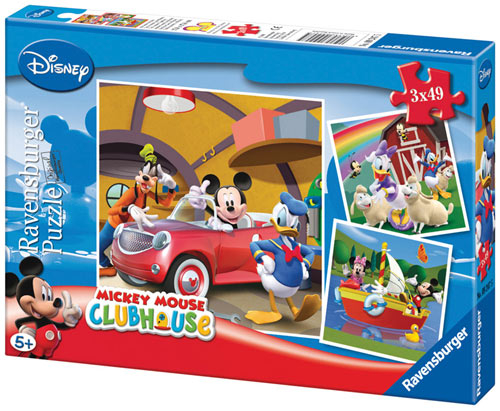 Puzzle Ravensburger Mickey Clubhouse 3 x 49 Piezas