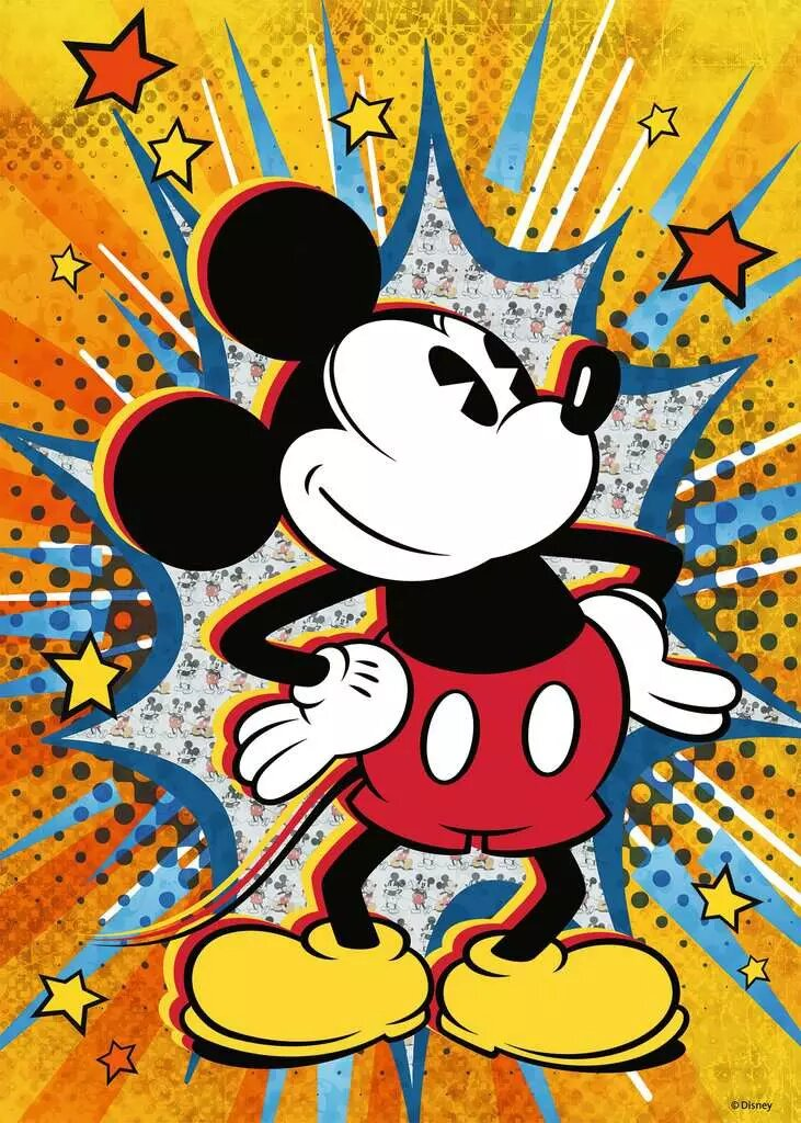 Puzzle Ravensburger Mickey Retro 1000 Piezas