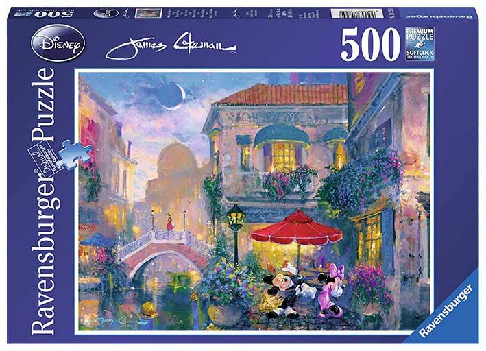 Puzzle Ravensburger Mickey y Minnie en Venecia de 500 Piezas