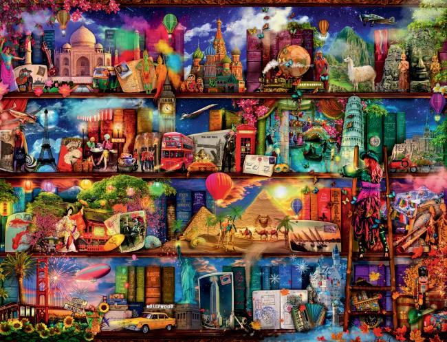 Puzzle Ravensburger Milagroso Mundo de los Libros de 2000 Piezas