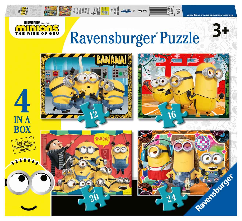 Puzzle Ravensburger Minions 2 Progresivo de 12+16+20+24 Piezas